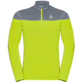 Odlo Ceramiwarm Element Capa Intermedia 1/2 Cremallera Hombre, safety yellow neon/bering sea